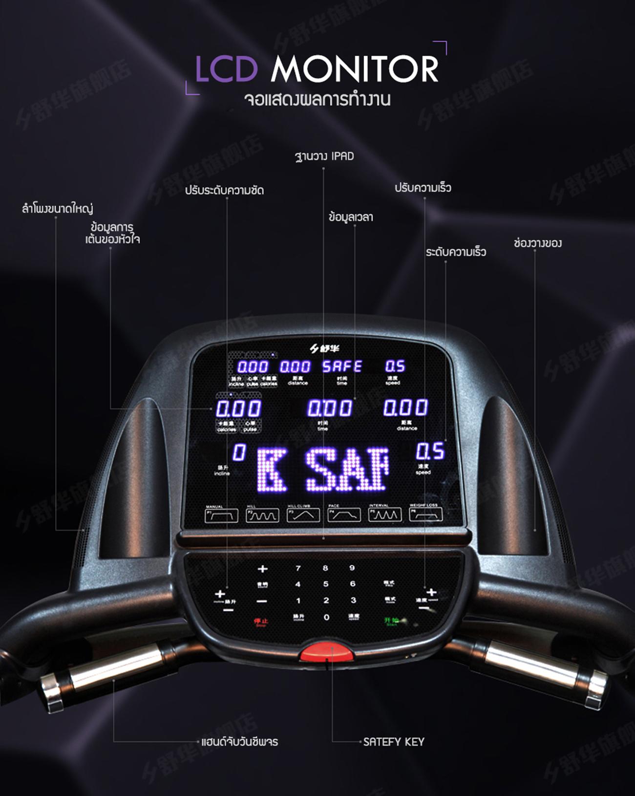ลู่วิ่งไฟฟ้า X5 Motorized Treadmill - DC 4.5HP motor