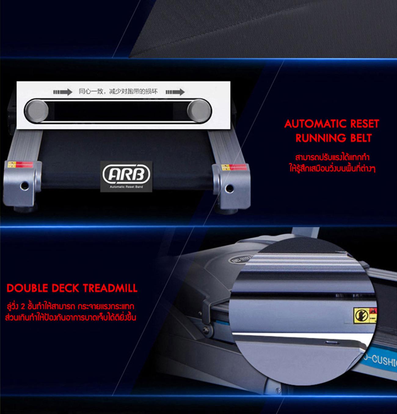 ลู่วิ่งไฟฟ้า 360องศา ฟิตเนส รุ่น X4 - 4.0 CHP motor