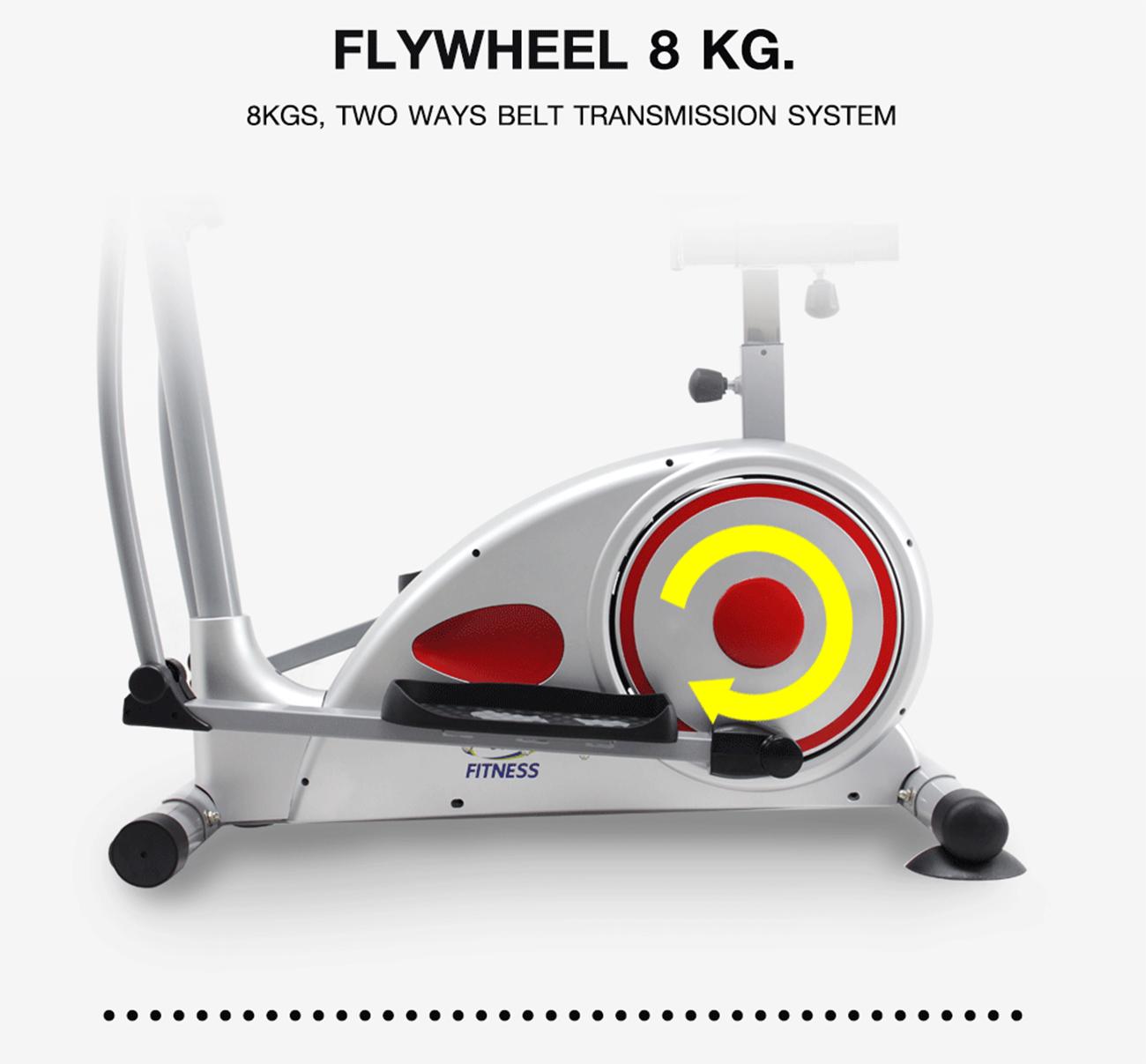 เครื่องเดินวงรี Magnetic Elliptical Bike 8KG.