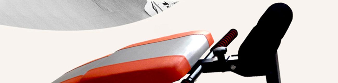 เบาะนั่งซิทอัพ ปรับระดับความชัน และพับเก็บได้ MINI FITNESS SIT UP BENCH - สีส้ม/เทา (ฟรี!! Push Up Bar สำหรับวิดพื้น)