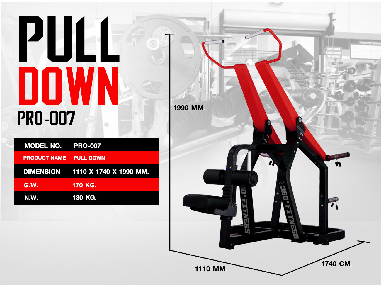 360 Ongsa Fitness Pull Down