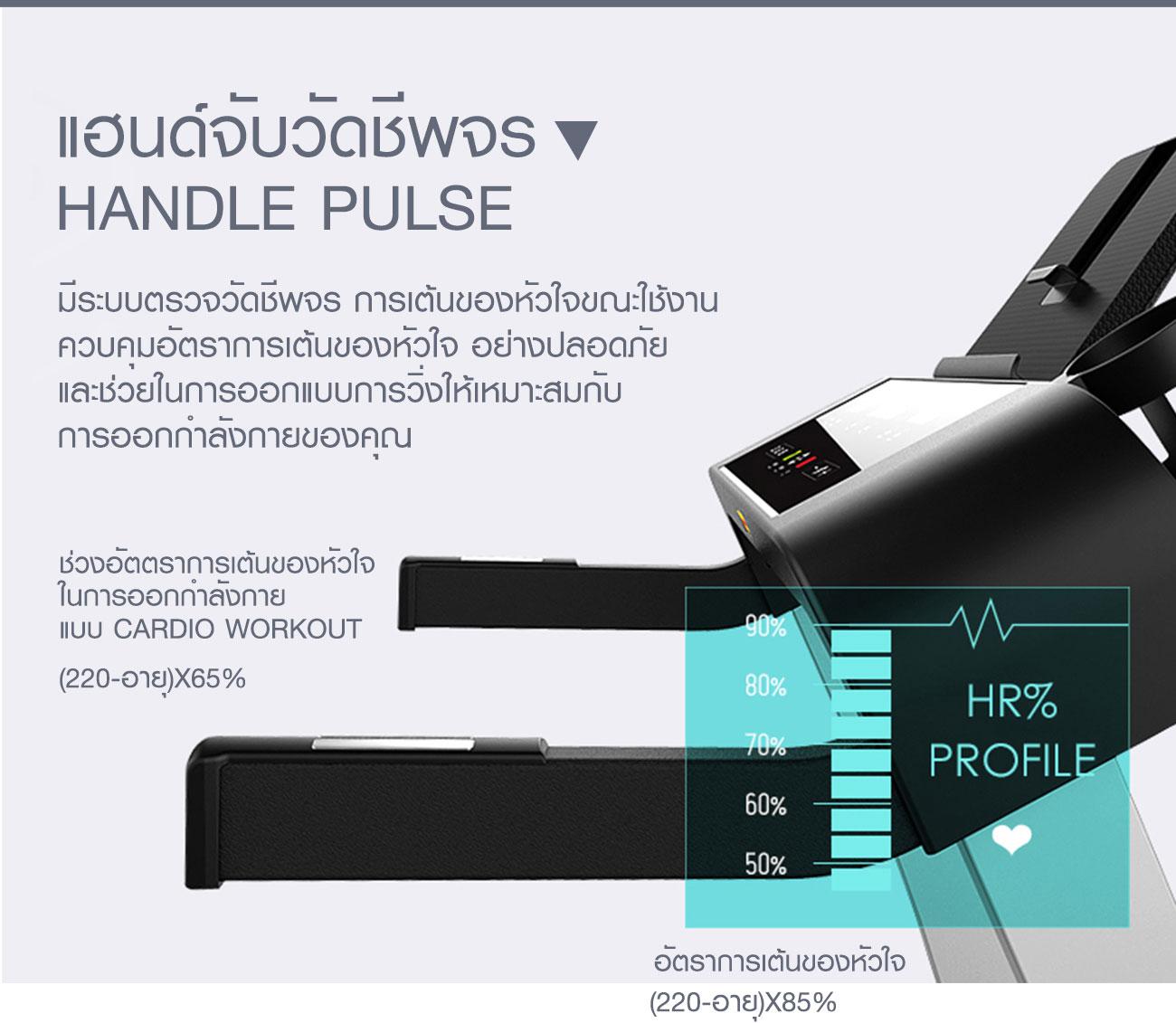 ลู่วิ่งไฟฟ้า 360องศา ฟิตเนส รุ่น A3 - DC 2.0 HP motor