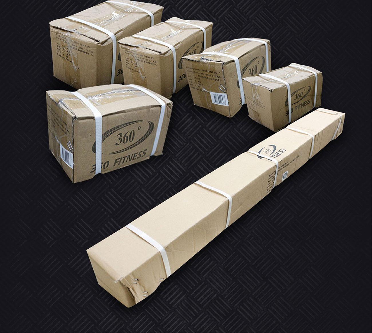 Rubber Dumbbell Set 2.5KG - 20KG with Rack 10pcs.