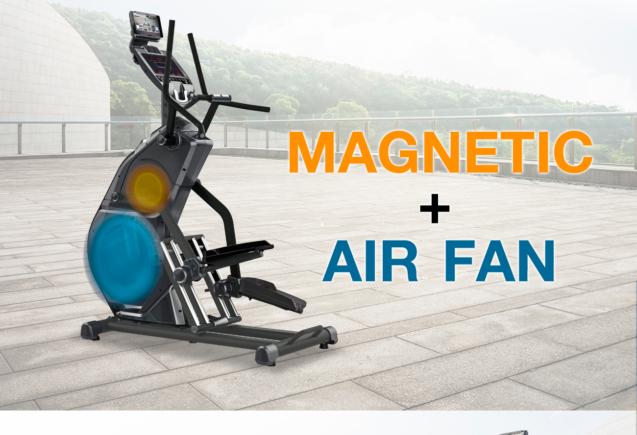 Stepper with incline Magnetic+air fan System model no.J22-AC 8kg