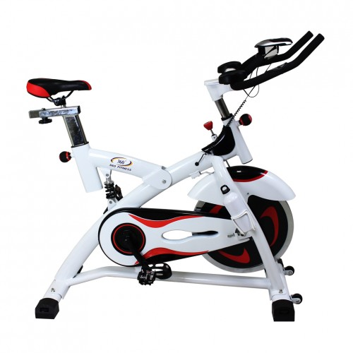 จักรยานปั่นออกกำลังกาย Spin Bike 18KG. รุ่น AM-S2000T สีขาว/ดำ