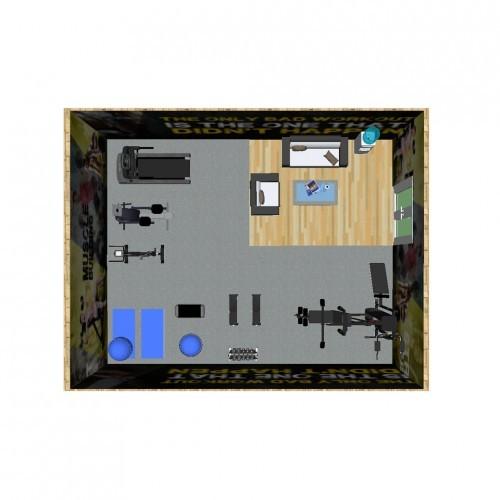 ห้องฟิตเนสสำหรับ 30 – 50 ตารางเมตร